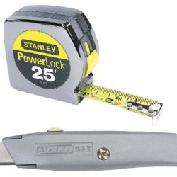 """Stanley 90-082 Powerlock 25' X 1"""" With Retractable Utility Knife"""