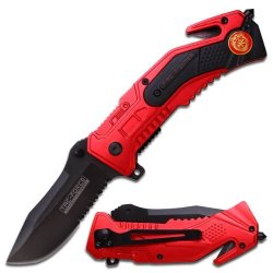 Tac Force Magnum Assisted Opening Rescue Knife - Firefighter