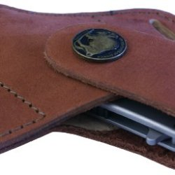 Concealed Carry Distressed Leather Knife Sheath, - Natural Leather - Thunder Basin Knives