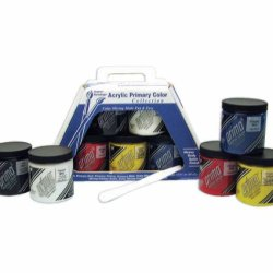 Weber Prima Acryl Primary Color Set (5 Jar 236Ml) And More