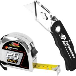 Wilmar W1723 Tape Measure And Knife Set, 2-Piece