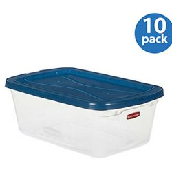 Rubbermaid Large Plastic Storage/ Organizer Container Portable Boxes Clear Set Of 10 1.6 Gal /6.5-Quart. Used To Store Shoes, Toys, Bathroom Bedroom Garage