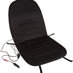 Amazonbasics 12-Volt Black Heated Seat Cushion With 3-Way Temperature Controller