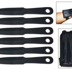 6Pc Throwing Knife Set & Wrist Sheath