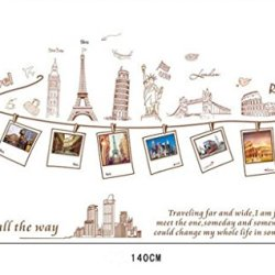 European Tour European Romantic Living Room Tv Background Wall Painting Decorative Wall Stickers Affixed To The Frame With Photo Posted