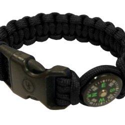 Ultimate Survival Technologies Para 550 Compass Bracelet, Black