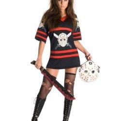 Sexy Miss Jason Voorhees Friday The 13Th Costume - Medium