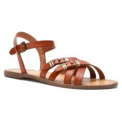 Kelsi Dagger Women'S Sinergy Gladiator Sandal,Cognac,6 M Us