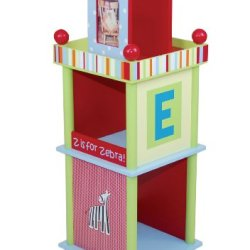 Levels Of Discovery Alphabet Soup Revolving Bookcase Multi-Color