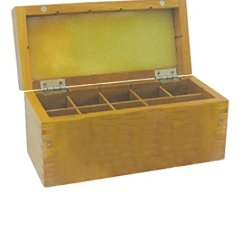 Wood Box Safely Store Gold Test Kit Holds 8 Slots Testing Acid Bottles Stones Puritest Brand