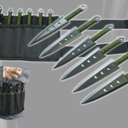 "Martial Art Throwing Kits - 6"" Set Of 6 Ninja Knives With Nylon Case"