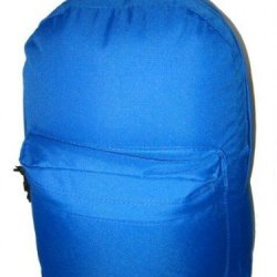 16'' 600D Polyester Standard Backpack, 16''X12''X5'', Royal. Case Pack 40 16'' 600D Polyester Stand