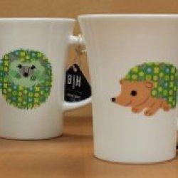 Hedgehogs Coffee Cup Mug Set Of 4 - 16 Ounce Per Cup 32016