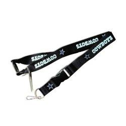 Dallas Cowboys Clip Lanyard Keychain Id Ticket Holder - Black Dallas Cowboys Clip Lanyard Keychain