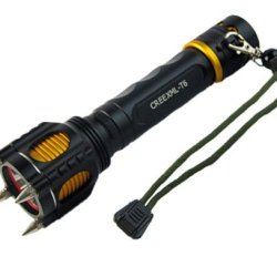 S-Star 2000 Lumen Led Flashlight Cree Xm-L T6 Torch Camping Equipment The Lamp Lamps With Rivet Knife Alarm Waterproof