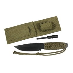 Rothco Paracord Knife W/Fire Starter-Olive Drab