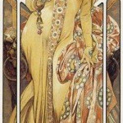 (12X36) Alphonse Mucha Moet Et Chandon Art Print Poster