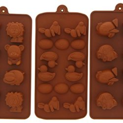 Candy Mold - Pastry Mold - Le Juvo Chocolate Silicone Molds - Vehicles, Ducks, And Animals, 3 Piece