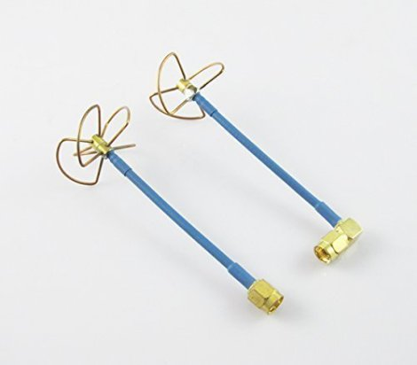 Anbee-FPV-58Ghz-Circular-Polarized-Clover-Leaf-Antenna-High-Gain-Aerial-Set-wRP-SMA-Plug