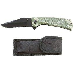 Maxam Digital Camo Large Liner Lock Knife - Skll102