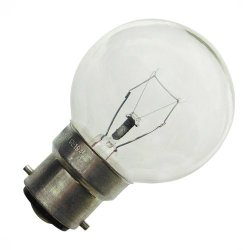 Eveready Golf Ball Bulb - Clear - 60W Bayonet Cap B22 - Twin Pack - [Eu Specification: 220-240V]