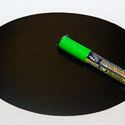 Magnetic Backed Kitchen Or Office Ziggyboard Chalkboard With Green Chalk Marker 6 X 9 Inch Ty Euro Oval Shape