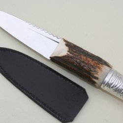 New Silver And Stag Handle Sheffield Sgian Dubh