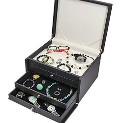 Box For Collectibles Or Jewelry With Lock / Cabinet / Case / Display
