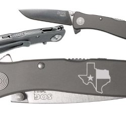 Tx Texas State Flag Outline Custom Engraved Sog Twitch Ii Twi-8 Assisted Folding Pocket Knife By Ndz Performance