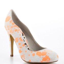Kelsi Dagger Women'S The Lillian I Shoe 7 Gray & Orange