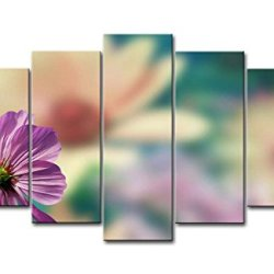 Pink 5 Piece Wall Art Painting Purple Cosmos Pictures Prints On Canvas Flower The Picture Decor Oil For Home Modern Decoration Print For Bedroom