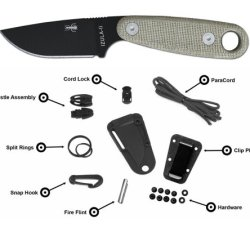 Esee Black Izula Ii W/ Survival Kit & Sheath