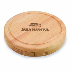 Nfl Seattle Seahawks Brie Cheese Board/Tool Set, 7-1/2 Inch