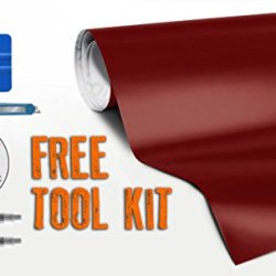 Matte Red 5Ft X 35Ft 175Sq Ft Cast Vvivid8 Vinyl Decal New Bubble-Free Car Wrap Interior With Free Tool Set Kit Included
