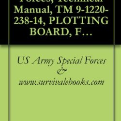 Us Army Special Forces, Technical Manual, Tm 9-1220-238-14, Plotting Board, Flash Ranging M18 W/E, Nsn 1220-00-133-7039, 1974