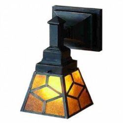 5 Inch W Diamond Mission Mica 1 Lt Wall Sconce Wall Sconces