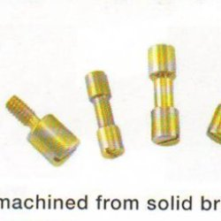 """Two Brass Corby Style Rivets 5/16"""" Head X 1"""" Length"""