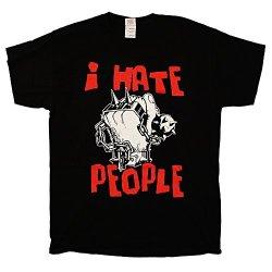 Anti-Nowhere League - I Hate People Fist - Black T-Shirt, Size: Medium, Color: Black