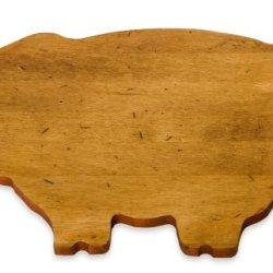 J.K. Adams 14-Inch-By-9-Inch Maple Wood Cutting Board, Pig-Shaped