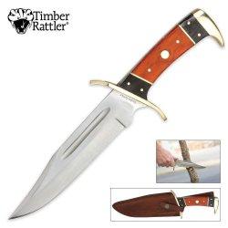 Timber Rattler 12 Inch Dark Pakka Bowie Knife