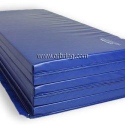"""Gymnastics Super Mat 2' Panel 6'X12'X2"""" With Hook/Loop V-4 Blue"""