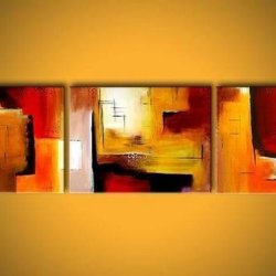 Sangu 100% Hand Painted Wood Framed 3-Piece Hot Sale Modern Colorful Rectangle For Abstract Oil Painting Gift Canvas Wall Art For Home Decoration