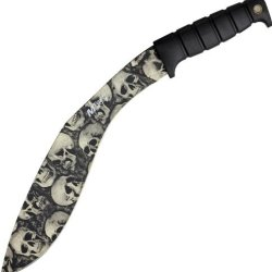 Mtech Knives 537Gy Mtech Skull Kukri With Grooved Black Rubberized Handle