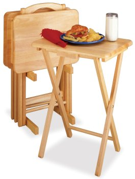Image of 5Pc TV Table Set, Rectangular Includes 4 Tables with One Stand (B0002SDP16)
