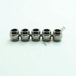 Ti-Edc 5Pcs Titanium Knife Key Jewelry Parachute Cord Bead Pendant Lanyard (Titanium)