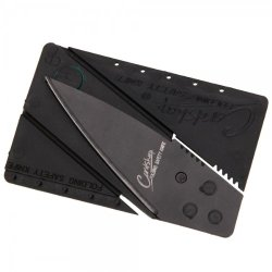 Portable Folding Safety Razor Sharp Credit Card Mini Knife Black Tr
