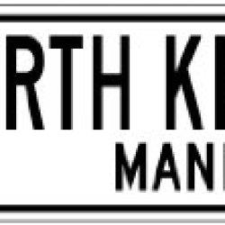 North Knife Lake, Manitoba - Canada Flag Aluminum City Sign - 4 X 18 Inches