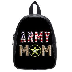 Jdsitem American Flag Army Star Camouflage Camo Design Size M Backpack School Bag Satchel