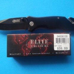 Elite Tactical Assist Open Rescue Knife, Black Et-1004
