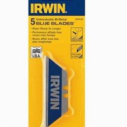 Irwin Industrial 2084100 5 Pack Bi-Metal Blue Blade Utility Blades